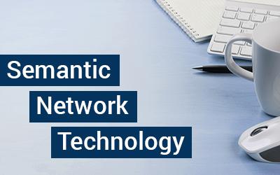 """Grafik mit dem Text """"Semantic Network Technology"""""""